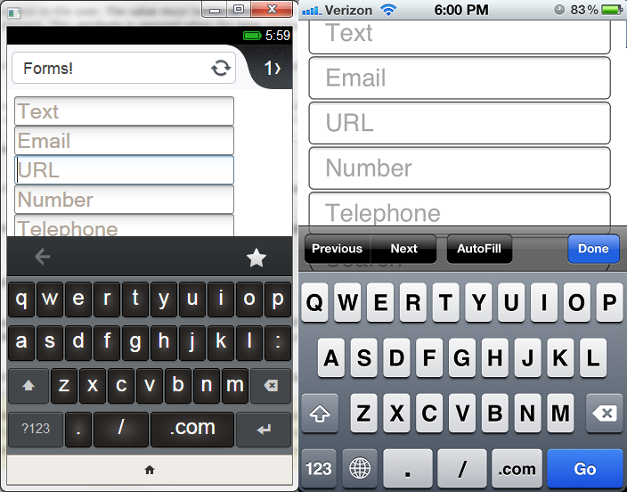 URL inputs